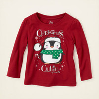 baby girl - graphic tees - Christmas penguin graphic tee   Children's Clothing   Kids Clothes   The Children's Place