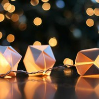 Wit  Whistle   Blog Archive    DIY: Paper Cube String Lights