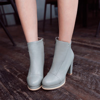 Round Toe High Heels Boots Women Shoes Fall|Winter 2955
