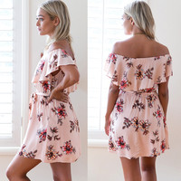 Women's Fashion Stylish Vacation Print Floral One Piece [11607372943]