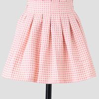 Connect The Dots Embroidered Skirt In Pink