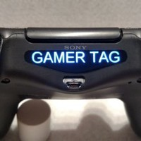 PlayStation 4 PS4 Controller Custom Gamer Tag Name Led Light Bar Decal Sticker !