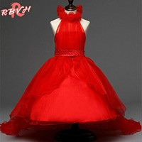 Flower Girl Tulle Evening Dress Summer Kids Clothes Birthday Party Girl Wear Wedding Dress Teenager Children Clothing