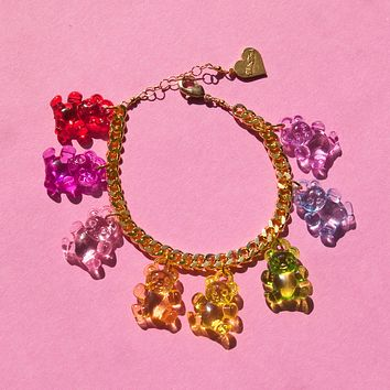 Crystal Clear Gummy Bear Bracelet
