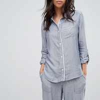 Abercrombie & Fitch Stripe Pyjamas Shirt at asos.com
