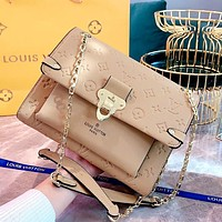 Free shipping: LV new lychee pattern women shoulder bag crossbody bag