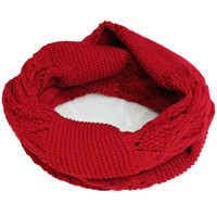 Red Cut-outs Scarf