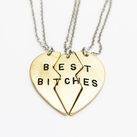 """Best Bitches"" 3-Piece Necklace"
