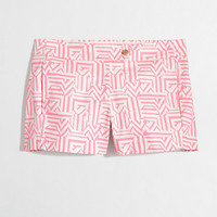 "Factory 3"" printed stretch chino short - Shorts - FactoryWomen's New Arrivals - J.Crew Factory"