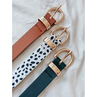 By Your Side Belt Set (White Spotted Multi)
