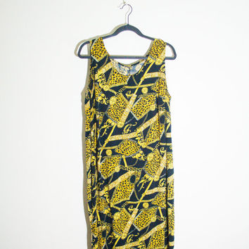 90s black gold summer maxi dress, versace 1990s spring fashion boho bohemian hipster soft grunge urban outfitters 2014 free people street