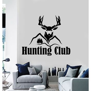 Vinyl Wall Decal Animal Deer Forest Hunting Club Man Cave Stickers Mural (g3332)