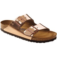 Birkenstock Women's Arizona Metallic Copper Soft Footbed Sandals (N)