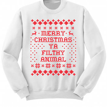 'Merry Christmas Ya Filthy Animal' Sweatshirt