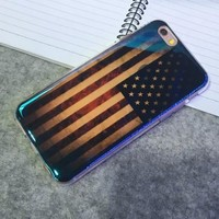 Shine American Flag Case Cover for iphone 6 6s Plus Gift 223-170928