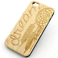 W22 Wood Case for APPLE IPHONE 4/4S, 5/5S, 5C Cover - DREAM CATCHER