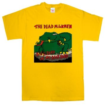 Dead Milkmen T-Shirt - Big Lizard - Cool, Funny, Humorous, Vintage and Retro TShirts