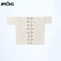 Aproms Off shoulder White Crop Top Bikini Beachwear 90's Girls Casual Lace Up Bikini Tank Top Cropped Tops Pink Bralet 30070
