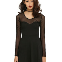 Black Spine Back Dress