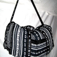 indian hand made multi color duffle bag gym bag luggage suitcase