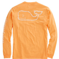 Vineyard Vines Long Sleeve Vintage Whale Graphic Pocket Tee- Cabana