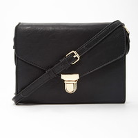 Faux Leather Envelope Crossbody