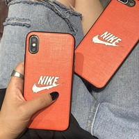 NIKE New fashion letter hook print couple protective case phone case