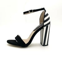 Stripe Back Ankle Sandals