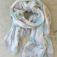 Meadowfield Scarf [3323] - $18.00 : Vintage Inspired Clothing & Affordable Fall Frocks, deloom | Modern. Vintage. Crafted.