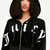 Juicy Couture For UO Cropped Zip Hoodie Jacket | Urban Outfitters