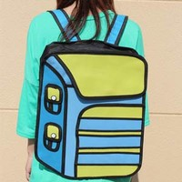2D Anime Backpack (Blue + Yellow)
