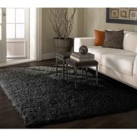 Rugs USA Venice Shaggy Black And Grey Rug