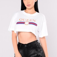 Queen Mary Crop Tee - White