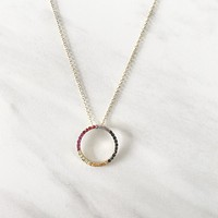 Rainbow Plated Crystal Necklace