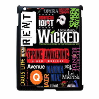 Broadway Musical Collage iPad 4 Case