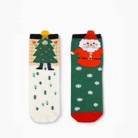 Santa & Christmas Tree LIMITED Sock Set [2 Socks]