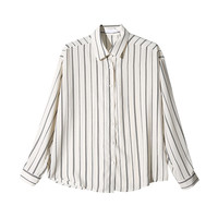 Striped Spread Collar Shirt (Ivory) | STYLENANDA