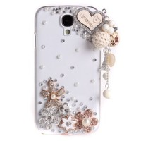 Miss Darcy 3D Bling Diamond Love Heart Lanyards Pendant Protective Shell Crystal Case Cover for Samsung Galaxy S4 IV i9500:Amazon:Cell Phones & Accessories