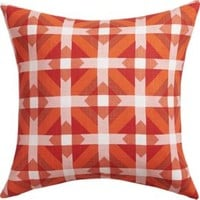 """Sunny Spectrum 18"""" Pillow With Feather-down Insert"""
