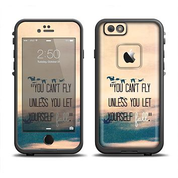 The Pastel Sunset You Cant Fly Unless You Let Yourself Fall Apple iPhone 6 LifeProof Fre Case Skin Set