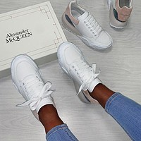 Alexander Mcqueen Casual Little White Shoes-25