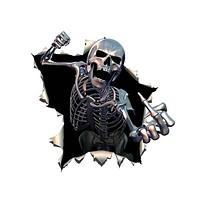 Skull Car Reflective Decal Auto Sticker Waterproof