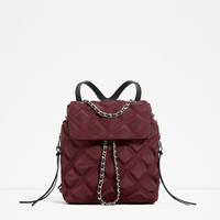 QUILTED CHAIN BACKPACKDETAILS
