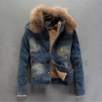 Men's and Women's Fur Hooded Jacket .