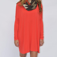 Ellington Persian Red Piko Dress