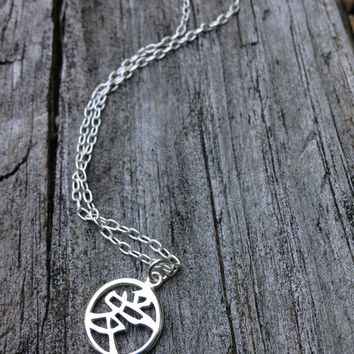Chinese Love Symbol Necklace in Sterling Silver - Chinese Pendant - Chinese Charm - Love Necklace - Chinese Symbol - Chinese Character