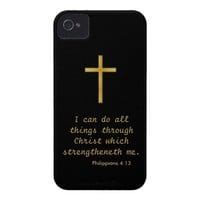 I can do all things through Christ iPhone 4 Case from Zazzle.com