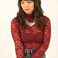 Wined and Dined Lace Top