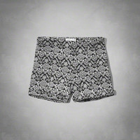 a&f patterned tap shorts