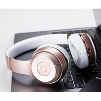 Popular In The World Beats Solo 3 Wireless Magic Sound Bluetooth Wireless Hands Headset MP3 Music Headphone with Microphone Line-in Socket TF Card Slot Purple I